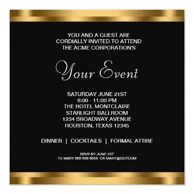 Black corporate business grand opening party card zazzle stopboris Images