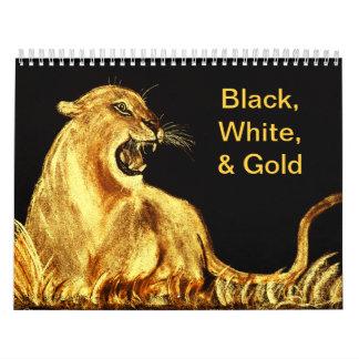 Black,White & Gold Calender Calendar