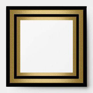 Black White Gold Frame All Events Envelopes