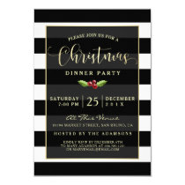 Black & White | Gold Glitter Reindeer Christmas Card