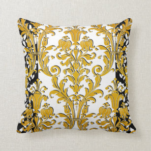 Black And Gold Decorative Pillows  from rlv.zcache.com