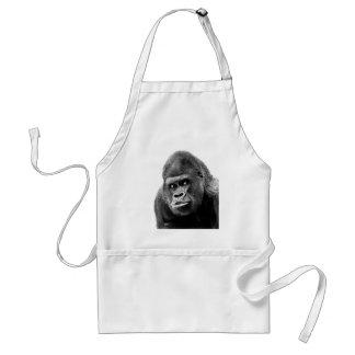 Black White Gorilla Adult Apron