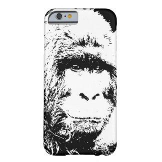 Black & White Gorilla Barely There iPhone 6 Case