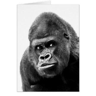 Black White Gorilla Card