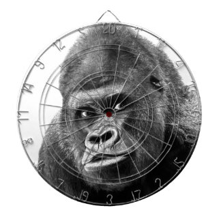 Black White Gorilla Dartboard