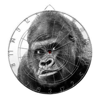 Black White Gorilla Dartboard With Darts