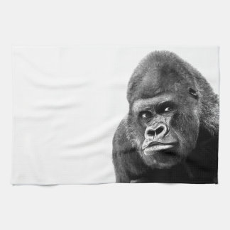 Black White Gorilla Hand Towel