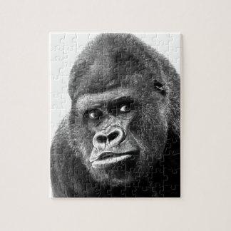 Black White Gorilla Jigsaw Puzzle