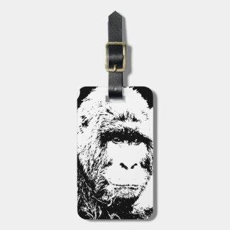 Black White Gorilla Tag For Luggage