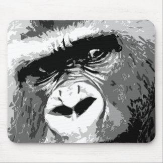 Black & White Gorilla Mouse Pad