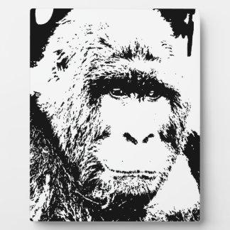 Black & White Gorilla Plaque