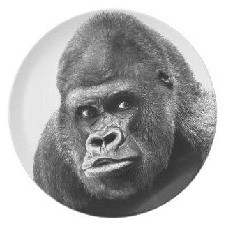 Black White Gorilla Plate