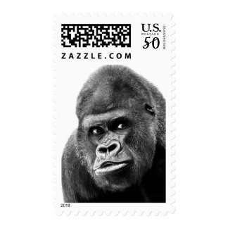 Black & White Gorilla Postage