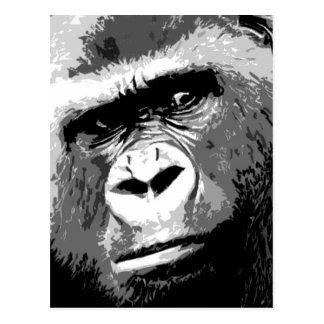 Black & White Gorilla Postcard