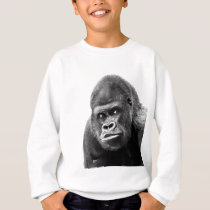 Black White Gorilla Sweatshirt
