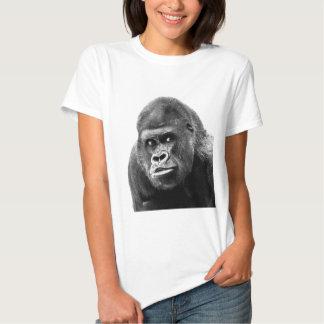 Black White Gorilla Tee Shirt