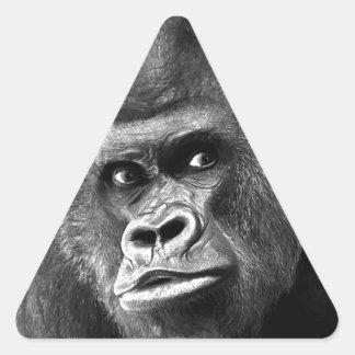 Black White Gorilla Triangle Sticker