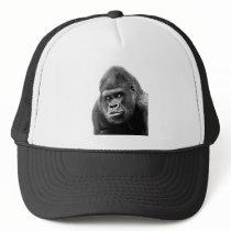 Black White Gorilla Trucker Hat