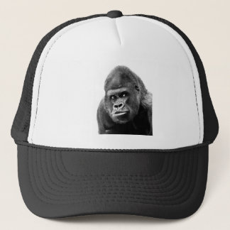 Black White Gorilla Trucker Hat