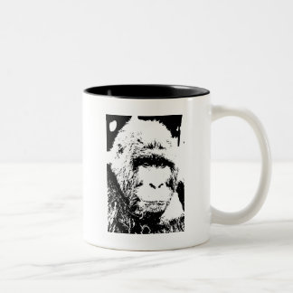Black & White Gorilla Two-Tone Coffee Mug