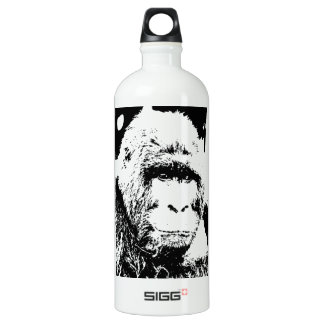 Black & White Gorilla Water Bottle