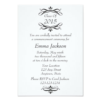 Black & White Graduation Invitation / Announcement