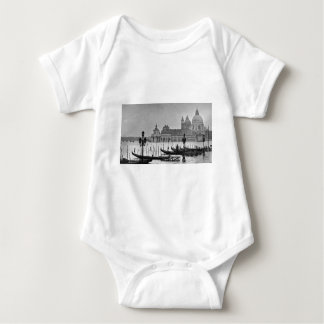 Black White Grand Canal Venice Italy Travel Baby Bodysuit