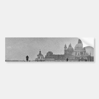 Black White Grand Canal Venice Italy Travel Car Bumper Sticker
