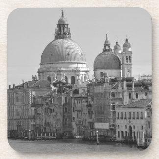 Black White Grand Canal Venice Italy Travel Coaster