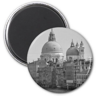 Black White Grand Canal Venice Italy Travel Magnet