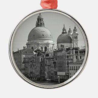 Black White Grand Canal Venice Italy Travel Metal Ornament