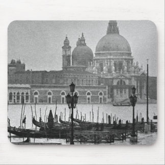 Black White Grand Canal Venice Italy Travel Mouse Pad