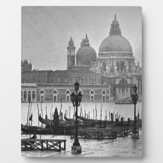 Black White Grand Canal Venice Italy Travel Plaque