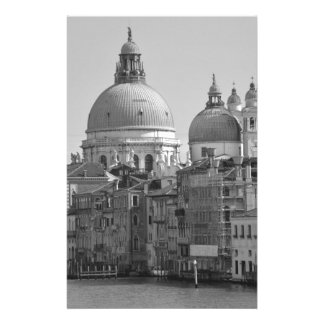 Black White Grand Canal Venice Italy Travel Stationery