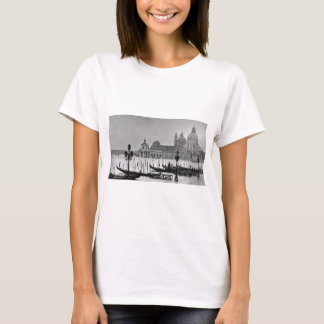 Black White Grand Canal Venice Italy Travel T-Shirt