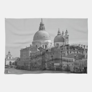 Black White Grand Canal Venice Italy Travel Towel