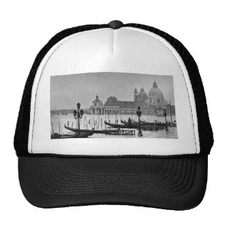 Black White Grand Canal Venice Italy Travel Trucker Hat