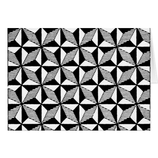 Black & White Graphic Design Greeting Card