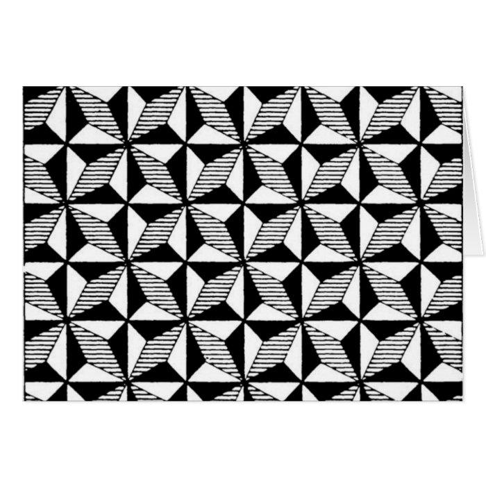Black & White Graphic Design Greeting Card