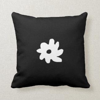 black white graphic flower decor idea pillow