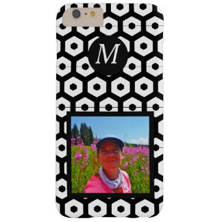 Black & White graphic  shape monogram, your photo Barely There iPhone 6 Plus Case