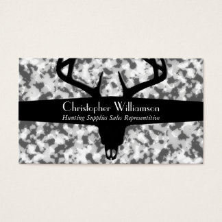 Black White & Gray Camouflage Business Card