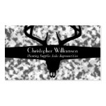Black White & Gray Camouflage Business Card Template