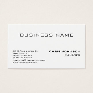 Black & White Gray Clear Manager Business Card