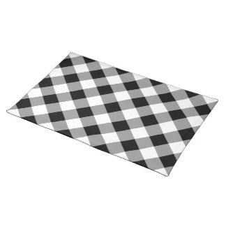Black White Gray Gingham Pattern Cloth Placemat