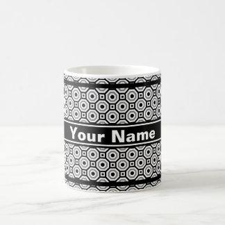Black/White/Gray Nested Octagon Mug