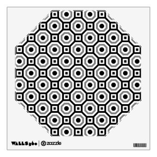 Black/White/Gray Nested Octagon Wall Decal