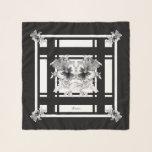 "Black White Gray Pansies Drawing Chiffon Scarf<br><div class=""desc"">Black,  White,  & Gray Pansies Drawing Handkerchief Chiffon Scarf</div>"