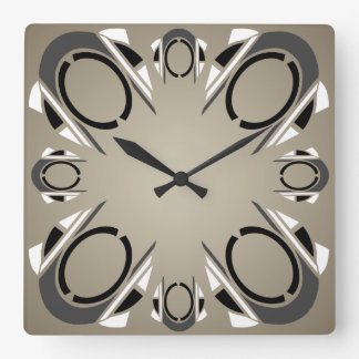 Attrayant Black White Gray Sepia Art Deco Wall Clock