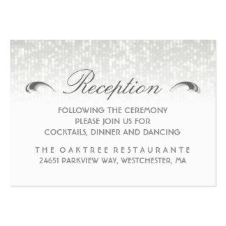 Black White & Gray Simplicity Art Deco Reception Large Business Card